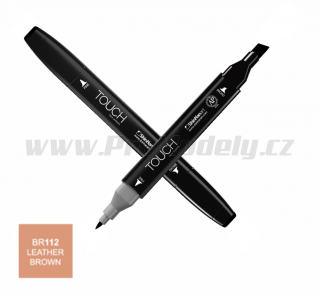 BR112 Leather brown TOUCH Twin Marker