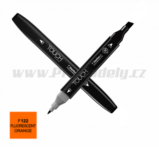 F122 Fluorescent orange TOUCH Twin Marker