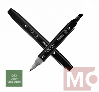 G43 Deep olive green TOUCH Twin Marker